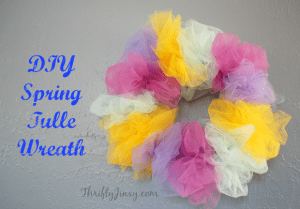 DIY Spring Tulle Wreath Craft