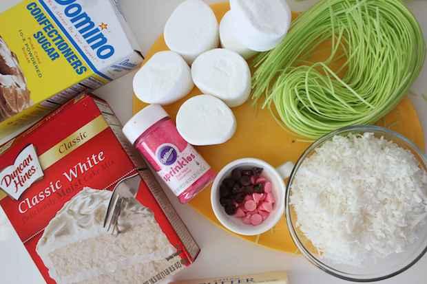 Easter Bunny Cupcakes Recipe Ingredients