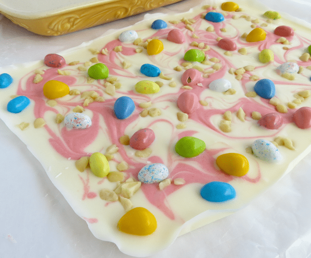 Easter Candy Macadamia Bark Recipe Unbroken