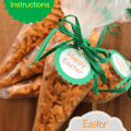Easter Carrot Treat Bags with Printable Tags