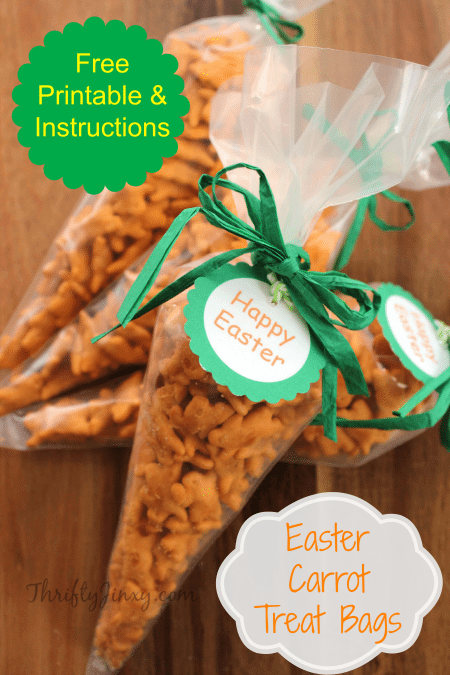EasterCarrot Treat Bags with Free Printable Tags