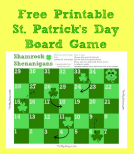 Free Printable St. Patrick's Day Board Game – Shamrock Shenanigans