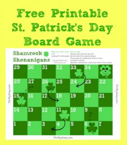 Free Printable St. Patrick's Day Board Game – Shamrock Shenanigans