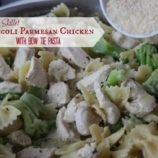 Skillet Broccoli Parmesan Chicken with Bow Tie Pasta Recipe
