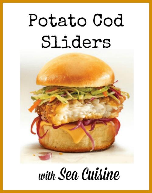 Potato Cod Sliders Recipe with Sea Cuisine