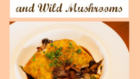 Potato Cod Over Red Wine Sauce and Wild Mushrooms Recipe