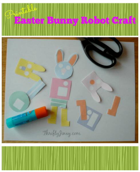 Printable Easter Bunny Robot Craft