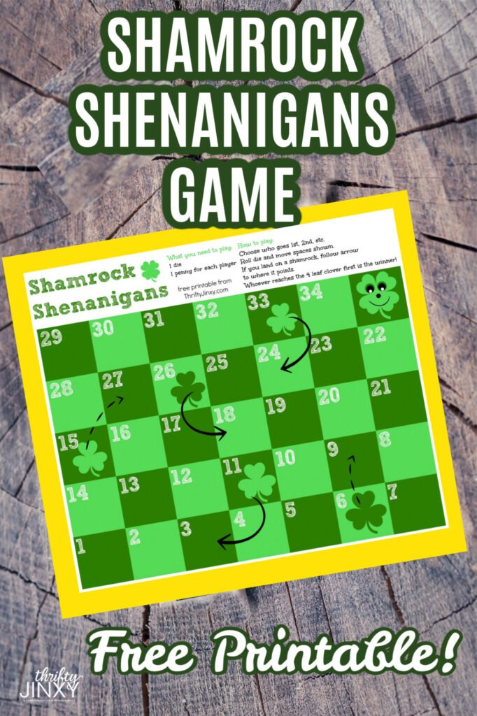 Printable Shamrock Shenanigans St Patricks Day Game