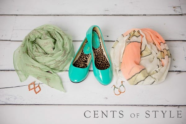 mint peach accessories for spring