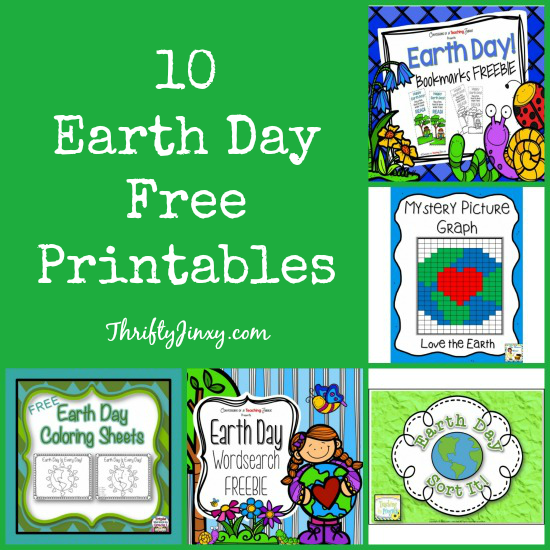 10  Earth Day Free Printables