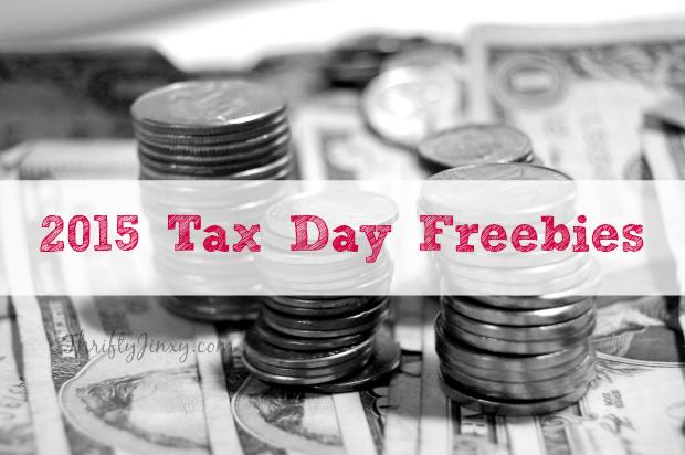 2015 Tax Day Freebies