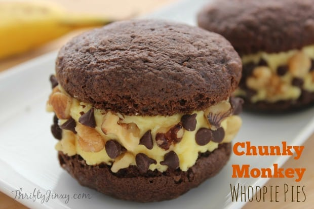 Chunky Monkey Whoopie Pies Recipe