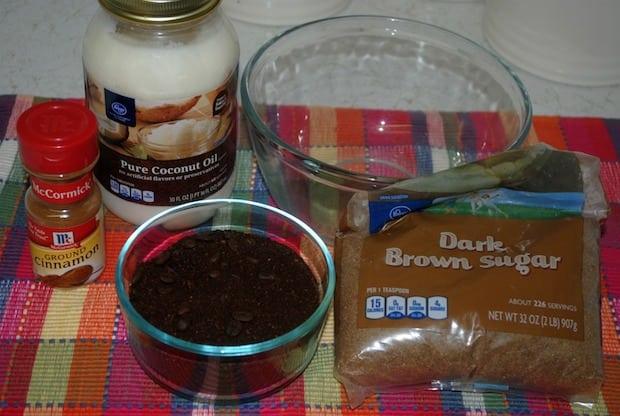 DIY Coffee Bath Scrub Ingredients