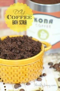 DIY Coffee Bath Scrub Recipe