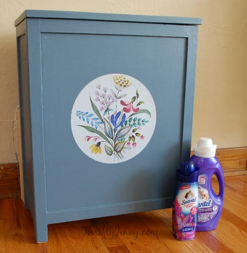DIY Wooden Laundry Hamper Makeover Project