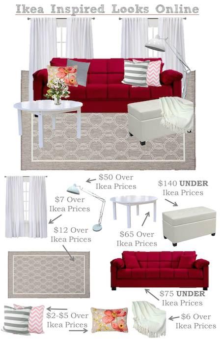 Ikea Inspired Living Room Mood Board