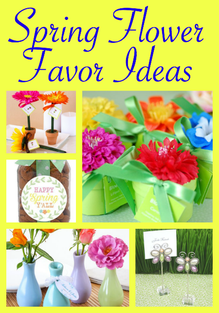 Spring Flower Favor Ideas