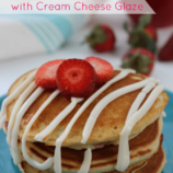 Strawberry Pancakes with Cream Cheese Glaze Recipe
