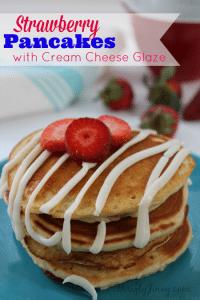 Strawberry Pancakes with Cream Cheese Glaze Recipe