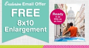 FREE 8×10 Photo Enlargement from Walgreens + 50% Off Everything Photo
