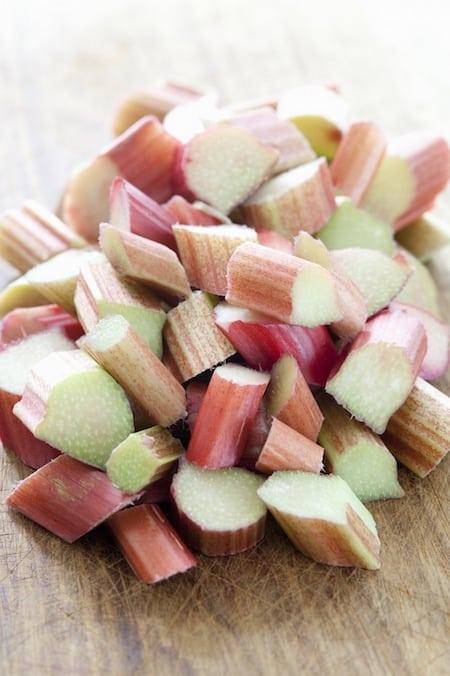 diced rhubarb