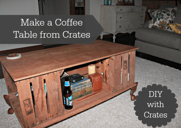 5 creative ways to use crates in your home thrifty jinxy for Creative ways to make a table
