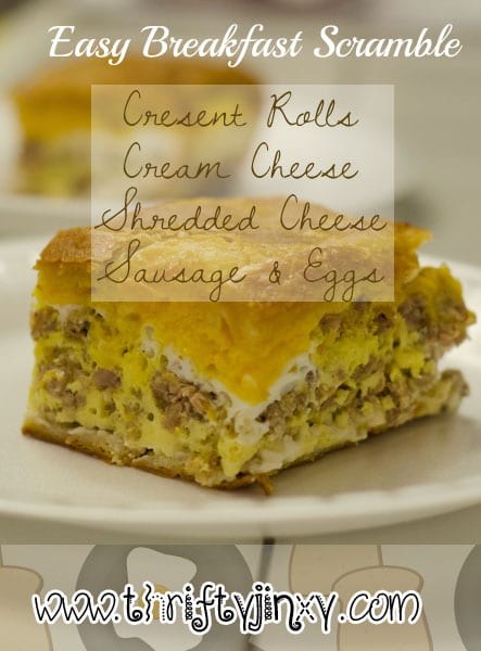 Easy Breakfast Scramble Recipe - Thrifty Jinxy