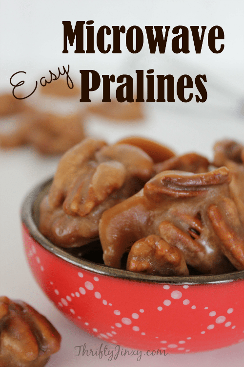 This Easy Microwave Pralines Recipe takes only minutes to make and creates a delicious candy treat for anytime snacking or gift-giving.