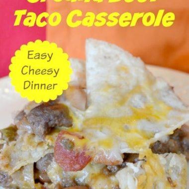 Ground Beef Taco Casserole Recipe