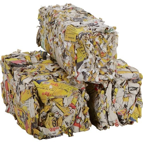 Newspaper Firelplace Logs