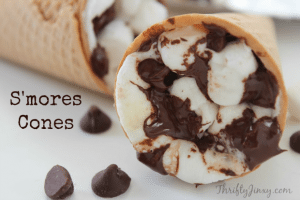 S'mores Cones Recipe – Perfect  for Campfire, BBQ Grill or Oven