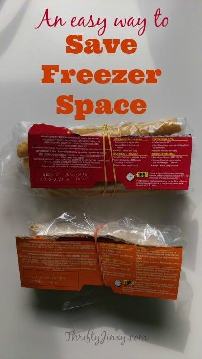 Save Freezer Space