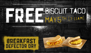 FREE Taco Bell Biscuit Taco Tuesday