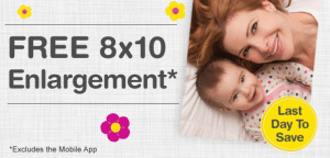 LAST MINUTE Mother's Day Idea: FREE 8×10 Photo Enlargement from Walgreens