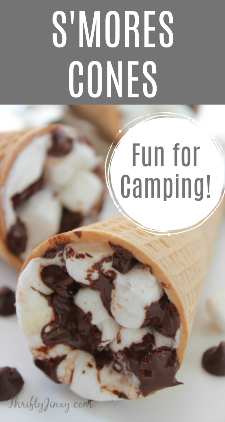 This yummy S'mores Cones Recipe is perfect for the Campfire, BBQ Grill or Oven. Make them with sugar or waffle cones for a special treat!
