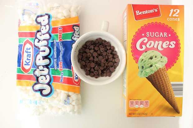 S'mores Cones Recipe Ingredients
