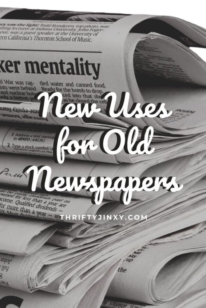 Uses for Old Newspapers