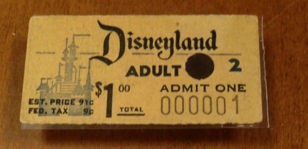 Very First Disneyland Ticket