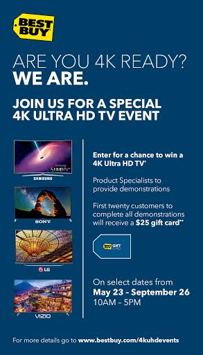 Join Best Buy for a Special 4K Ultra HD TV Event and Enter for a Chance to Win!