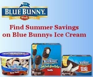 Summer Savings on Blue Bunny Ice Cream!