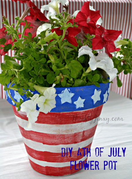 DIY 4th of July Flower Pot Craft