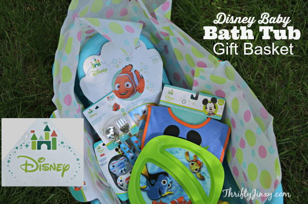 Create a Disney Baby Bath Tub Gift Basket