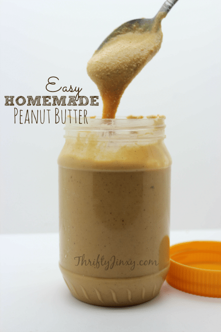 Easy Homemade Peanut Butter Recipe from Scratch