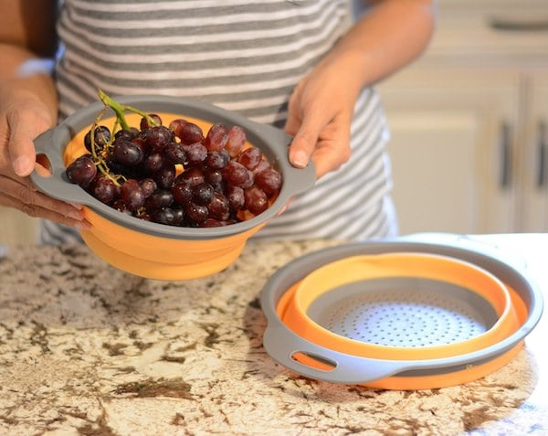 Kitchen Maestro Collapsible Silicone Colander