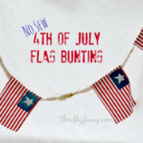 No Sew 4th of July Flag Bunting DIY Craft