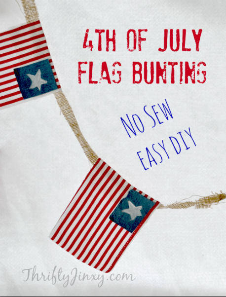 No Sew 4th of July Flag Bunting DIY Craft