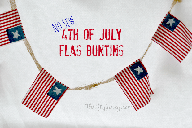 No Sew 4th of July Flag Bunting DIY