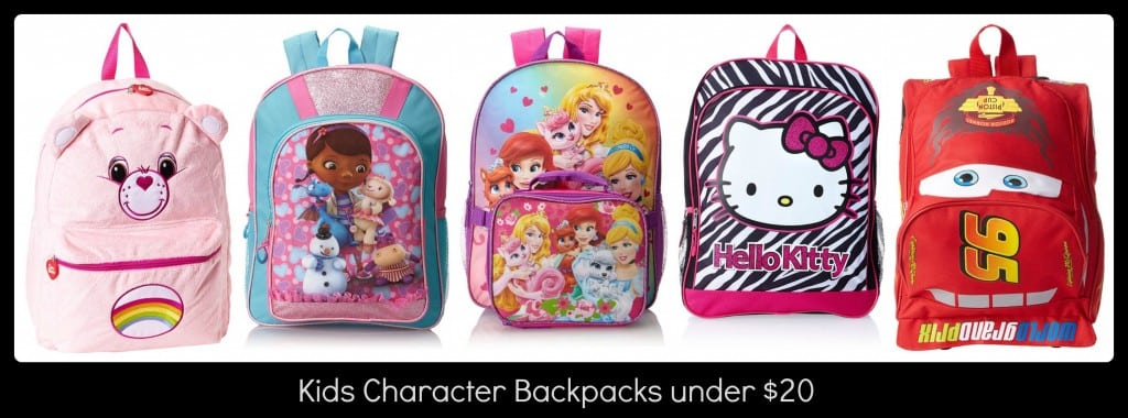 Kids Character Backpacks under $20 - Thrifty Jinxy
