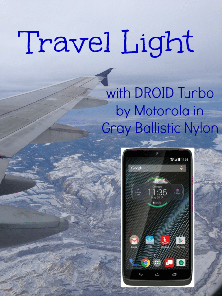 Travel Light with the DROID Turbo by Motorola in Gray Ballistic Nylon