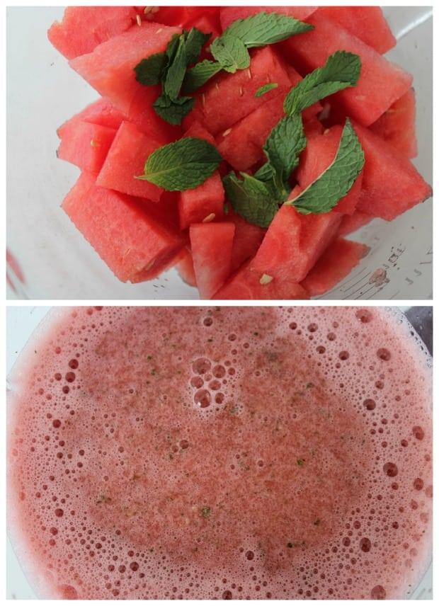 Watermelon Agua Fresca Float Recipe Process